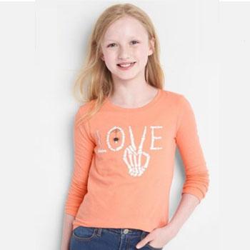 天猫Gap 女童舒适纯棉万圣节长袖T恤