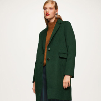 天猫双12预告:GU 女装毛混纺修身大衣